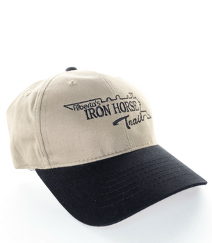 iron horse trail black and beige hat